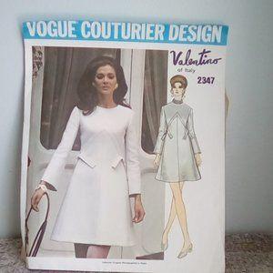 Vogue#2347 Valentino Dress Pattern
